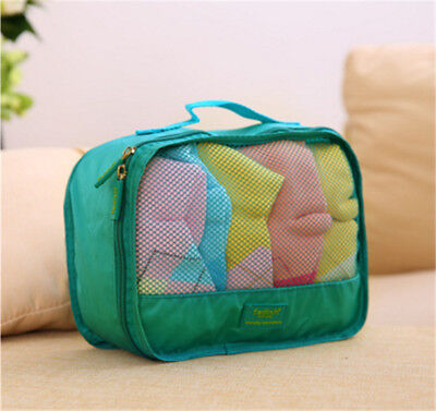 8 Set Packing Cubes with Shoe Bag - Compression Travel Luggage Organizer