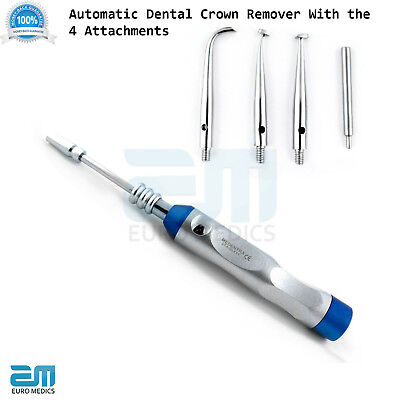 Automatic Crown Removal Gun Dentist Surgical Tool with 4 Attachments Dental CE