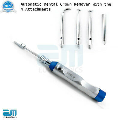 Dental Crown Remover Automatic Crown Removal Gun With 4 Attachments Dentist CE