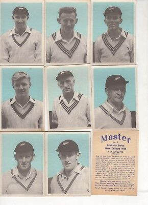 Full set of NZ cricket cards from 1958.