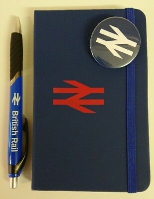Br British Rail Notebook Pen & Blue Badge Edition Trains Blue
