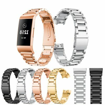 Stainless Steel Watch Band Metal Strap Bracelet for Fitbit Charge 3 Wristband