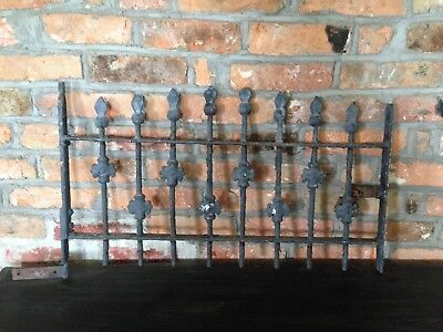 Antique Vintage Wrought Iron Window Gate / Grate - Architectural Salvage