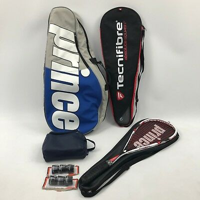 KARAKAL White Red Tribal SL 125 Superlight Squash Racket & Accessories 43555