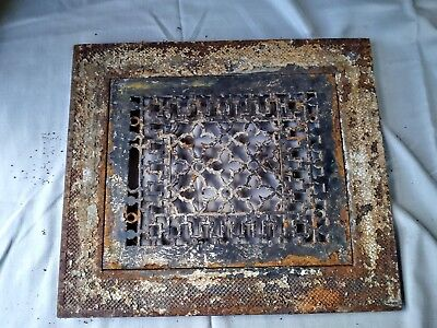 Antique Victorian register grate  with frame slavage