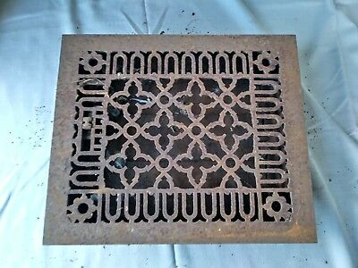 Antique Victorian register grate with louvers slavage