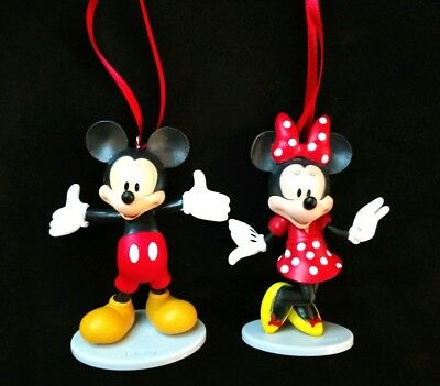 Disney Mickey Mouse and Minnie Mouse Christmas Ornament Set