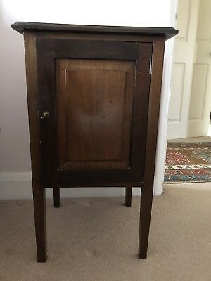 Antique mahogany Bedside Table, Cabinet