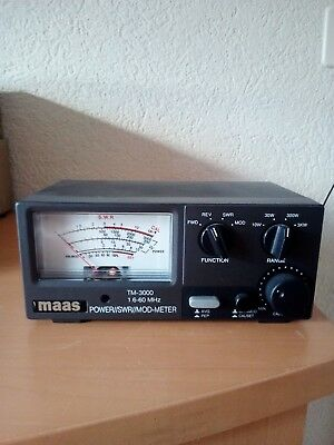 MAAS TM 3000 1.6-60 MHz POWER/SWR/MOD-METER