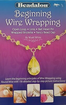 Beadalon Beginning Wire Wrapping Booklet Jewellery Making - FREE POST