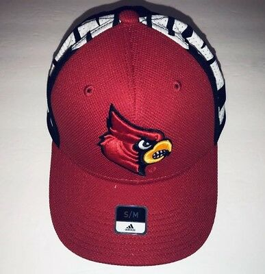huge discount 5e3fb 92923 ... 50% off louisville cardinals adidas ncaa flex cap red fitted hat size s  m a4931 74155