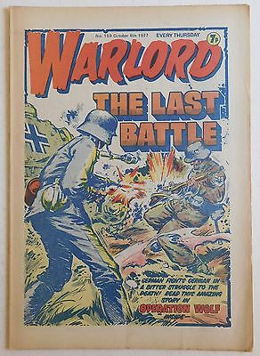 WARLORD Comic #159 - 8th October 1977