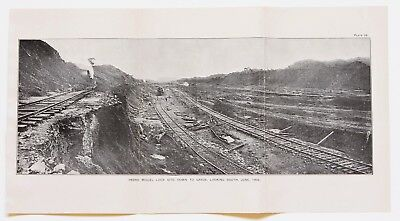 1913 Pedro Miguel Panama Canal Printed Photo Engineer Construction ORIGINAL