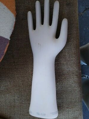 Vintage Ceramic Glove Mold Large General Porcelain Trenton, NJ steampunk display