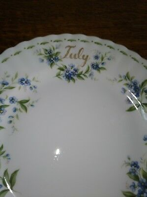 Royal Albert Flower of the Month July Forget-Me-Not Salad Plate Bone China