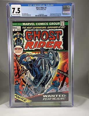 Ghost Rider 1 CGC 7.5 1st Son Of Satan Gil Kane Cover Off white To White Pages