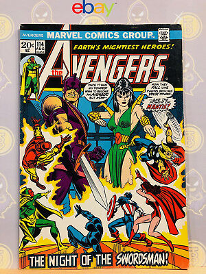 Avengers #114 Fine- 2nd Mantis Appearance 1973 Bronze Age Key Issue