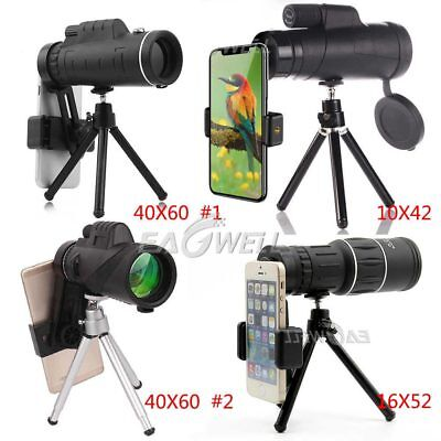 For iPhone XR 8 7 40X60 16X52 10X42 Zoom Optical Lens Monocular Telescope KIT WQ