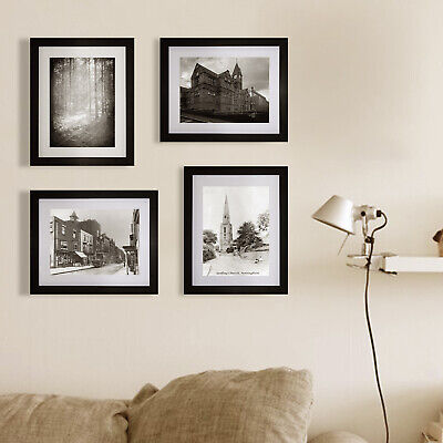 10 Piece Photo Picture Art Frame Set Black Hanging Table Top Display