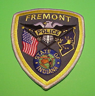 Fremont  Indiana  In   Police Patch   Free Shipping!!!