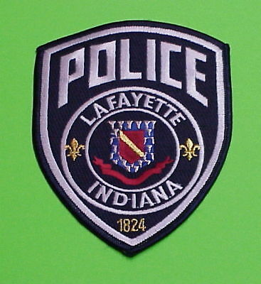 Lafayette  Indiana  1824  In  ( Gold )   Police Patch   Free Shipping!!!