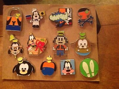 Lot Of 12 Goofy Disney Trading Pins