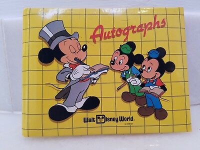 Disney World Autograph Book Mickey in Top Hat Vintage 1980s