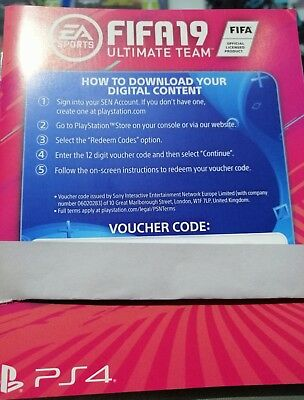 FIFA 19 ULTIMATE TEAM CODICE VOUCHER  PER ps4