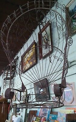 Vintage Peacock Swing Chair twisted wrought iron original Antique Unusual