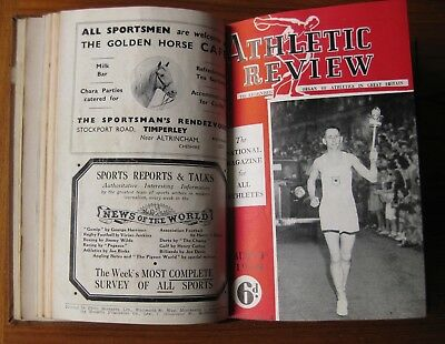ATHLETIC REVIEW 1948 - 12 Monthly Magazines incl. Olympic Edition 380pp
