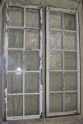 Antique 10 Pane Wood Frame Windows