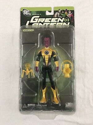 Green Lantern Sinestro Yellow Lantern Action Figure Series 3 DC Comics New