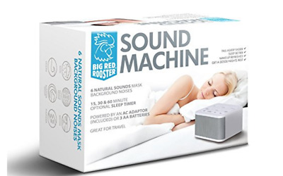 Big Red Rooster Sound Machine For Sleeping & Relaxation 6 Natural Sounds