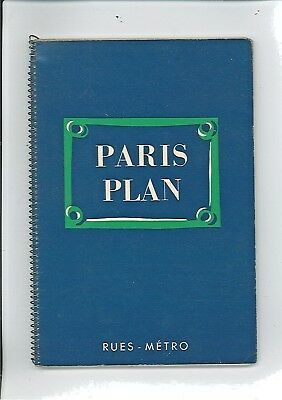 Ancien Plan De Paris : Paris Plan 1958