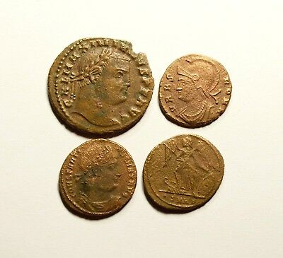 Cleaned Lot Of 4 Ancient Roman Imperial Coins - Nice Quality