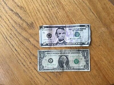 2013 $5 Federal Reserve Note - STAR NOTE  + 1969 $1 FRN - San Francisco