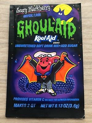 Ghoul Aid Kool Aid Extremely Rare Vintage Retro Halloween Scary Blackberry