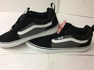 4fdfe789b7 VANS Black Suede Grey Canvas Shoes Skateboarding Mens Size 10 Classic Old  School