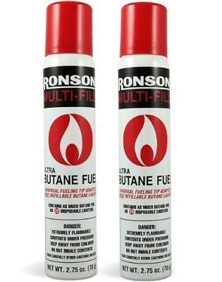 Ronson Multi-Fill Ultra Butane Fuel 2.75 OZ 78g (Pack of 2)