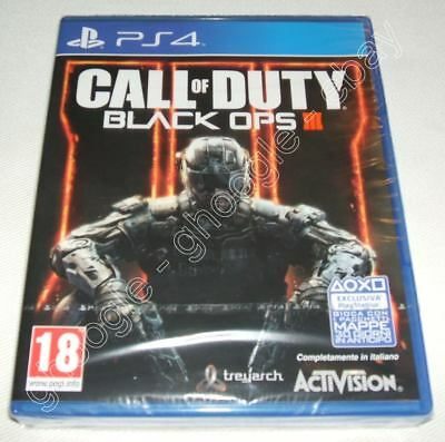 PS4 - Call of duty Black Ops 3 - Vers. ITALIANA - NUOVO Sigillato Playstation 4