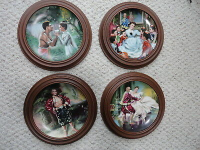 Knowels The King And I Plates Set Of 4 Framed 1980's