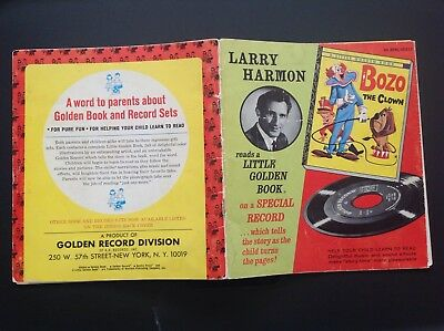 Bozo The Clown Book Record Beast With The Least 45 RPM Larry Harmon Vintage