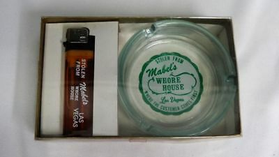 Vintage Stolen From Mabel's Whore House Las Vegas Gift Set Ashtray Lighter 🔥