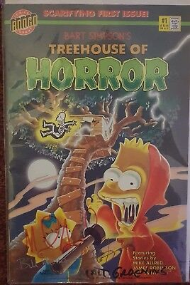 #1 Signed Bart Simpsons Treehouse Of Horror Golden Apple Limited Edition