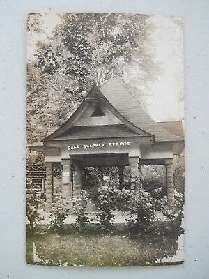 Webster Springs WV post card Real Photo used