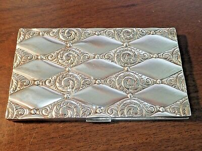 Vintage Evans Art Deco Sterling Silver Cigarette Case