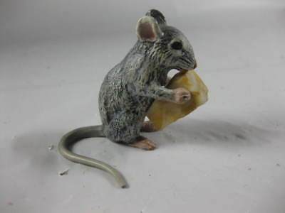 Antique Austrian Cold Painted Bronze Mouse W Cheese
