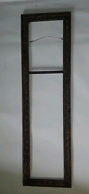 Antique Large Very Nice Art Picture Carved Frame Solid Wood Victorian