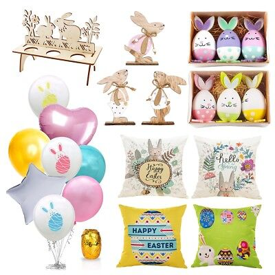 2019 Easter Balloon Rabbit Wood Home Egg Bunny Party Decoration Supply Kid Gift