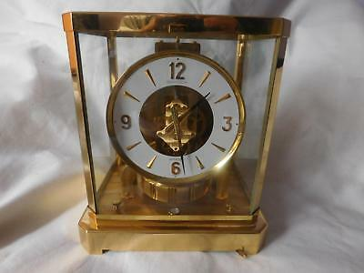 ATMOS vintage carriage clock by Jaeger LeCoultre 1970's Working, Excellent